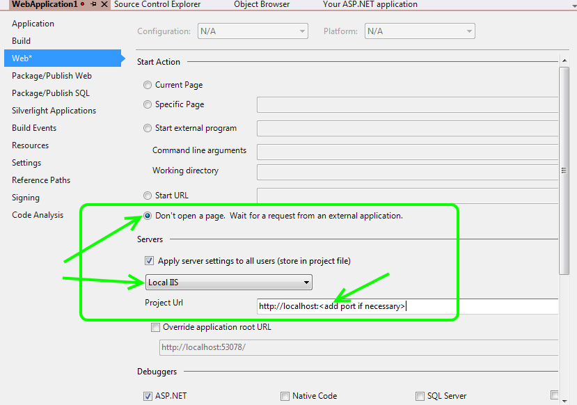 Visual Studio Debug Local IIS